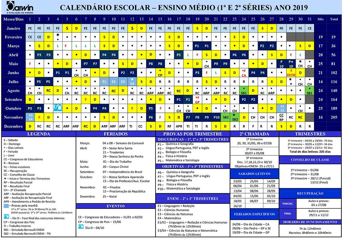 calendario 1 2 series