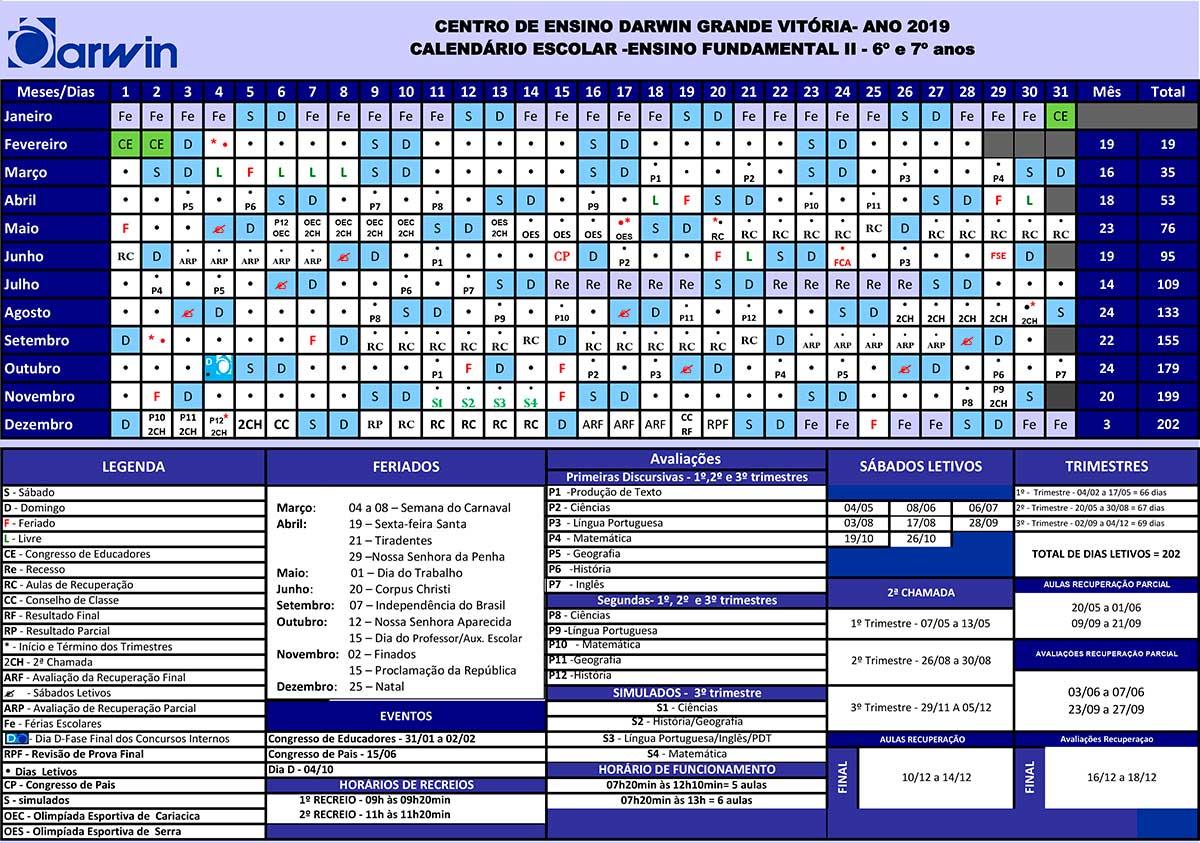 calendario EF II cariacica